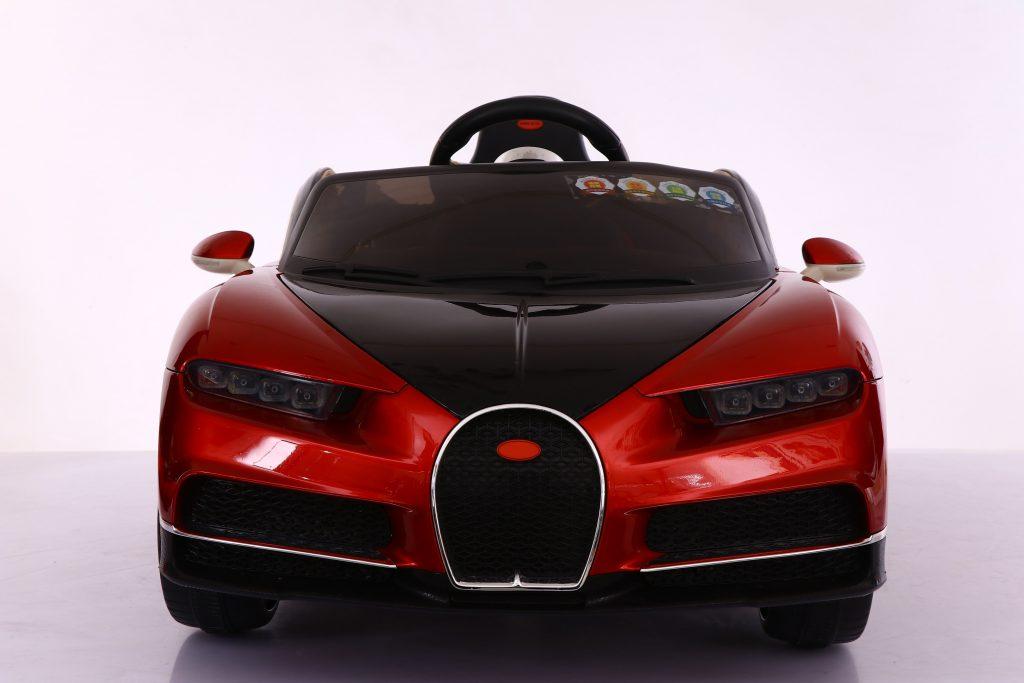 Licensed Bugatti Chiron Style Kids Ride On Car 12V Remote control - Red - INYDY